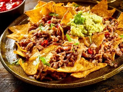 receta de nachos con queso carne deshebrada