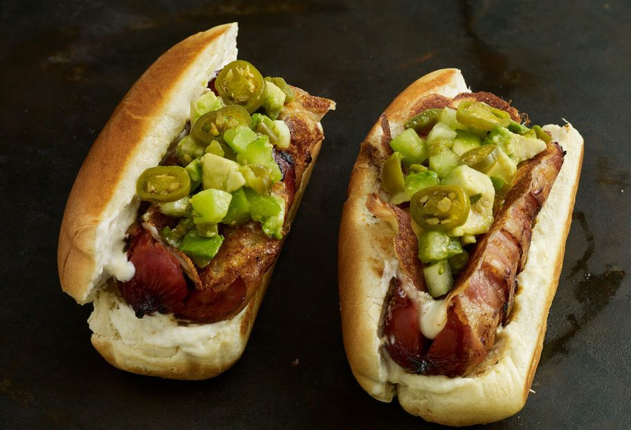 hot dog aguacate