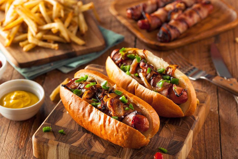 hot dog tocineta