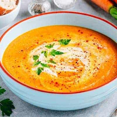 crema de zanahorias, boniato y manzana con Thermomix