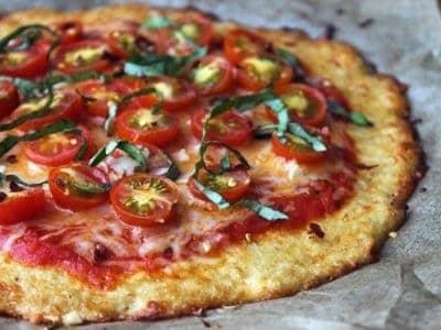 Pizza de Coliflor receta